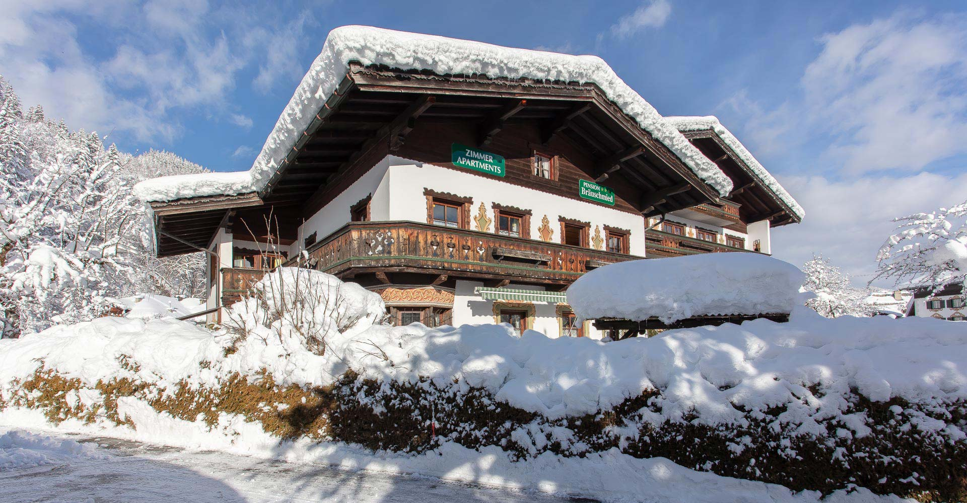 Pension Lofer Winter Zimmer 2